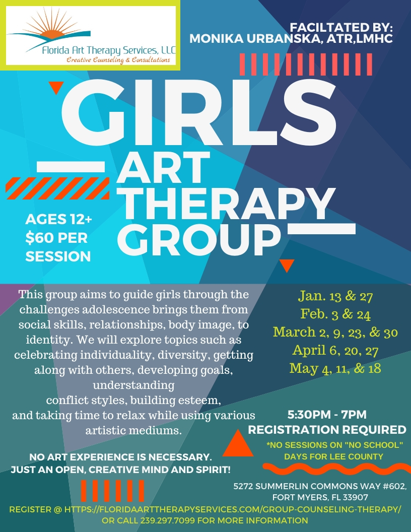 Group Counseling | Florida Art Therapy | Ft. Myers, FL | 33907